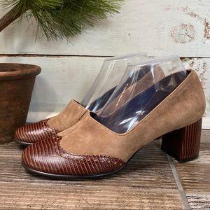 Aerosoles Boxwood Chunky Heel Womens Brown Shoes